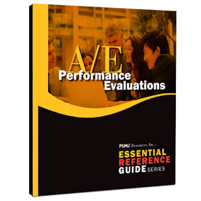 Essential Reference Guide: A/E Performance Evaluations
