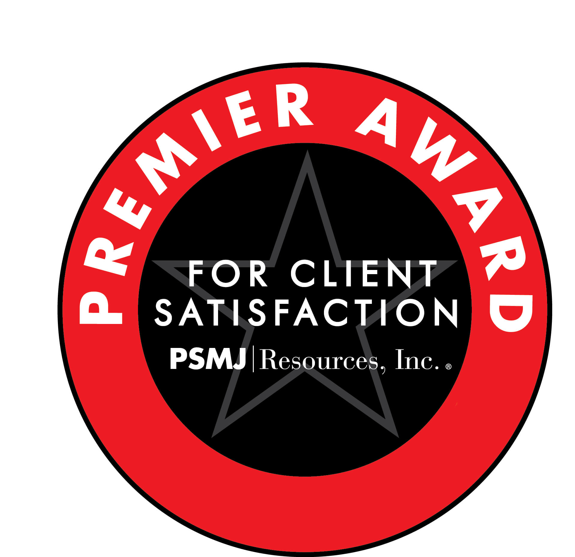 PSMJ Resources Inc. Premier Award for Client Satisfaction